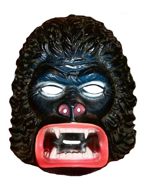 KING KONG - vintage retro plastic Halloween mask - made by the Ben Cooper company