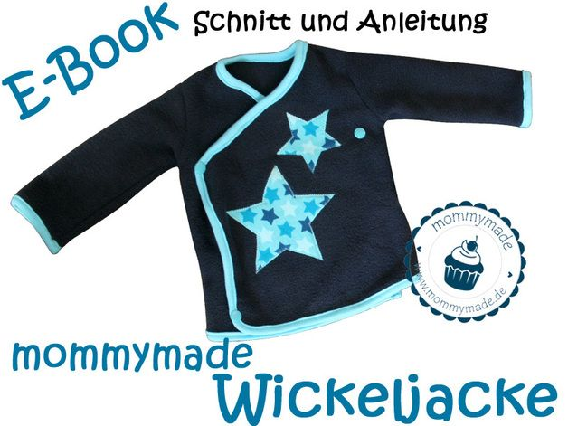 Babymode - Ebook Wickeljacke Schnittmuster Anleitung 56 - 86 - ein Designerstück von mommymade-de bei DaWanda