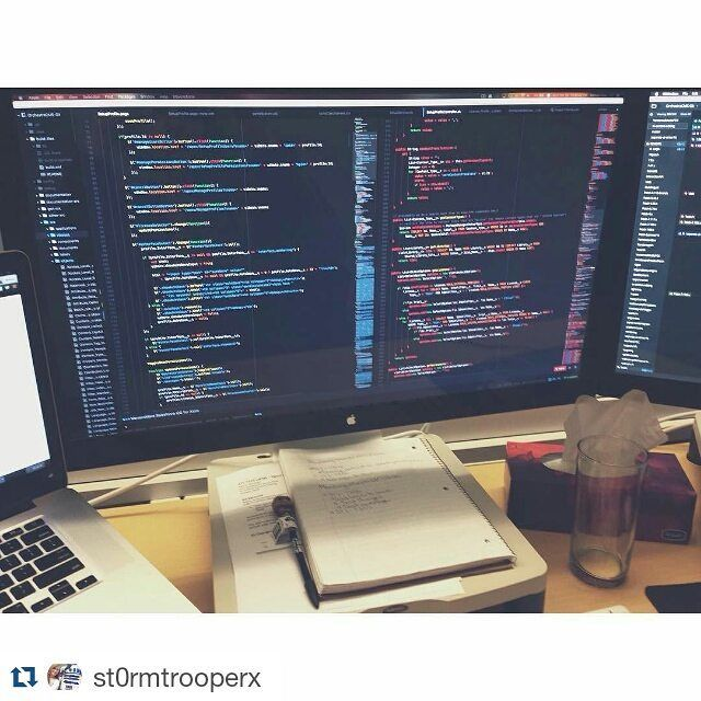 #Repost @st0rmtrooperx posted: it was finally time for a change as i've been using monokai syntax themes for the longest time  this syntax theme is called An Old Hope (yes it's a star wars theme) with a modified One Dark UI theme. i'm quite enjoying it so far as i love working with lots of colours  #programming #coding #code #programmer #softwaredeveloper #developer #javascript #jquery #apex #salesforce #atom #apple #mac #macbookpro #thunderboltdisplay #workspace #desk #work #worklife…