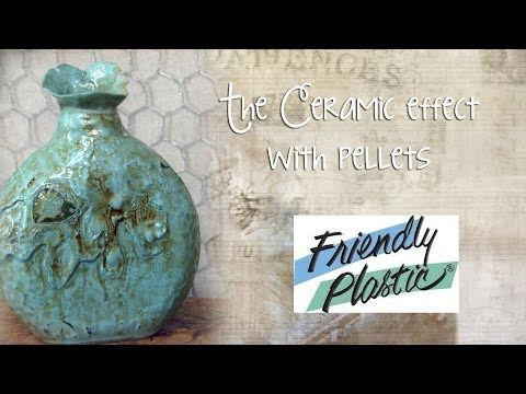 Faux Ceramic Bottle with Friendly Plastic Pellets - Upcycle and Recycle - YouTube