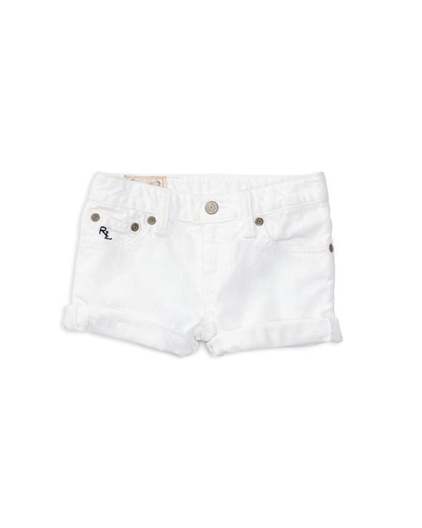 Ralph Lauren Childrenswear Girls' Weekender Denim Shorts - Sizes 2-6X