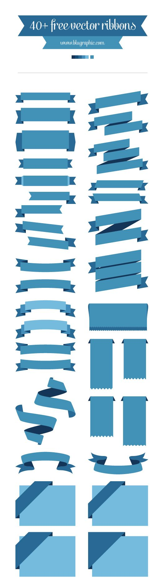 40+ Free Vector Ribbons  #graphic #design #resources