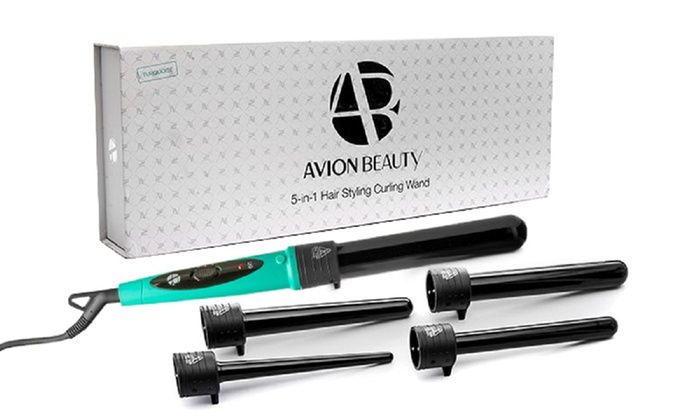 Avion Beauty Curling Wand with 5 Ceramic Tourmaline Barrels: Avion Beauty Curling Wand with 5 Ceramic Tourmaline Barrels