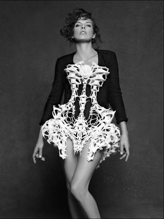 Milla Jovovich - by Karl Lagerfeld