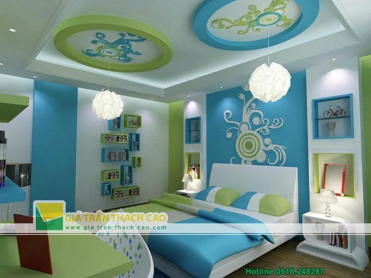 Trần thạch cao cho phòng ngủ trẻ em 01