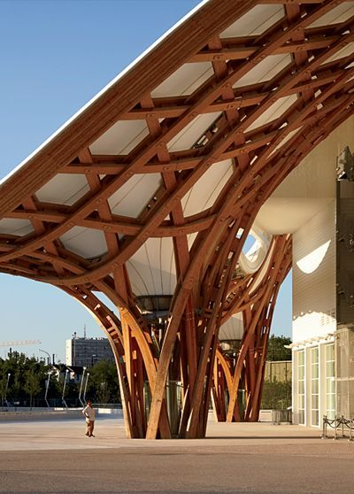 The shigeru ban in metz, france is sheer awesomeness. For more architecture to drool over go to Risingbarn.com & see our structures.