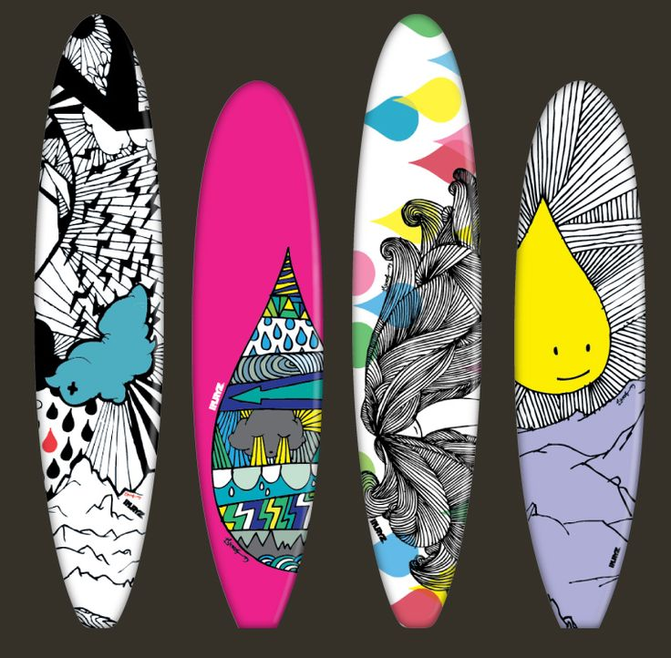 59 best awesome surfboards images on pinterest for Awesome surfboard designs