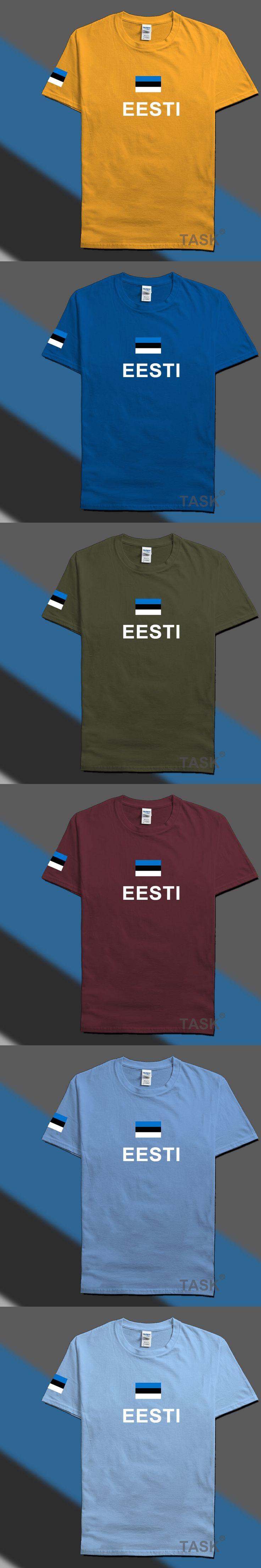 Estonia Estonian mens t shirts fashion 2017 jerseys' nation 100% cotton t-shirt clothing tees country sporting flags EST Eesti