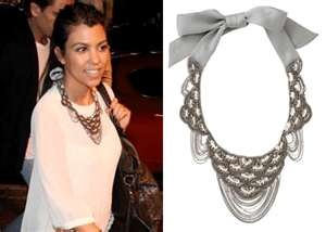 Kortney Kardashian in Stella & Dot  Marrakesh Bib Necklace.