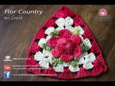 Flor de Crochê Country - Professora Simone