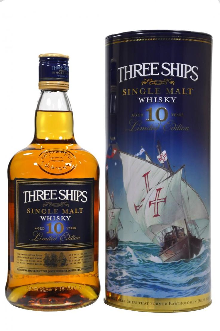 Three Ships 10 Years Old from the James Sedgewick Distillery in Wellington, South Africa