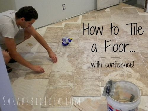How to tile a floor, even if it's your first time!