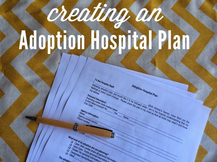 Creating an Adoption Hospital Plan - includes a printable to use!
