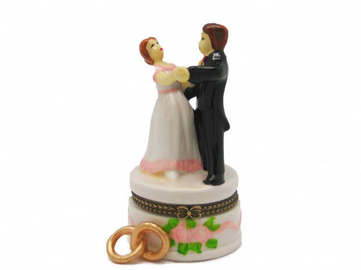 Wedding Favor Hinge Box Bride and Groom