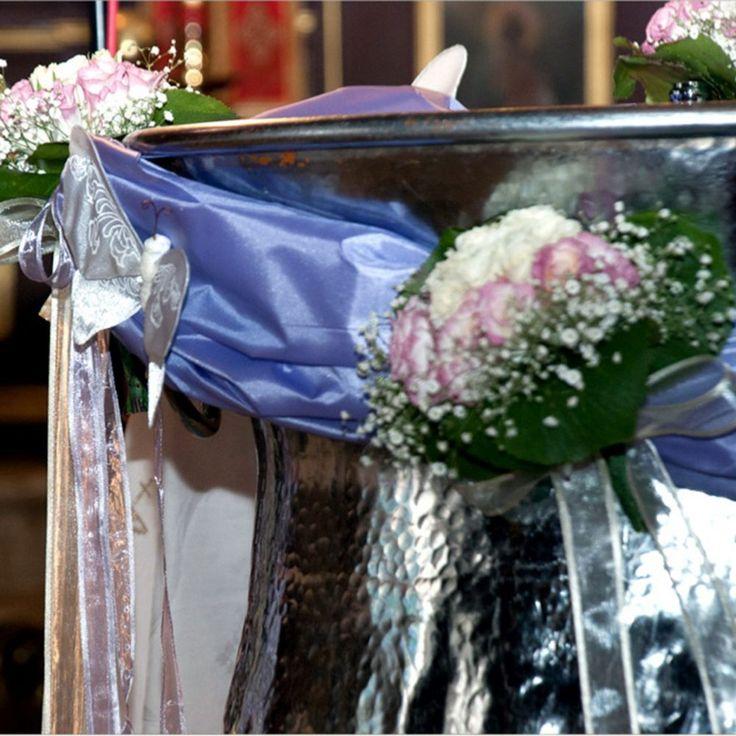 κολυμπήθρα στολισμος roses theme for baptism