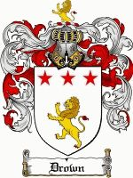 Drown Coat of Arms / Drown Family Crest. Could be a cool tattoo.