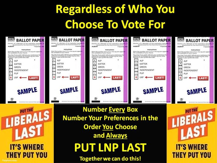 Please RT RT RT to encourage people to put LNP Last! We can do this! #qldpol #qldvotes #qldvotes2015