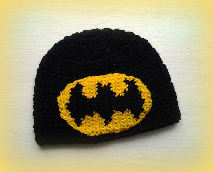 crochet batman hat