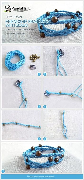 Jewelry Making Tutorial--How to Make Friendship Bracelets with Beads | PandaHall Beads Jewelry Blog