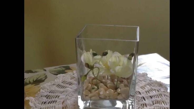 Come creare un centrotavola floreale sommerso / How to make Underwater flower centerpiece