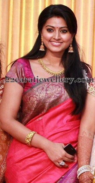 Jewellery Designs: Sneha Necklace and Long Jhumkas