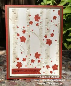 Woodlands Textured Embossing Folder from Stampin' Up!   Sparkled ...                                                                                                                                                                                 More