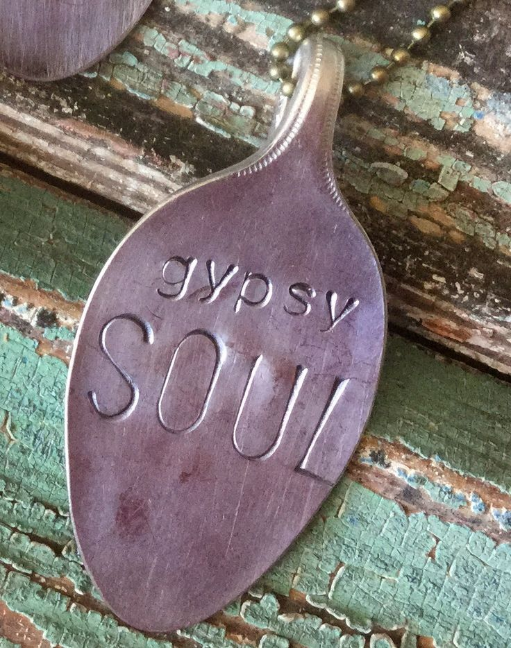 Nothing like the soul of a free spirit. Be free with this vintage hand stamped…