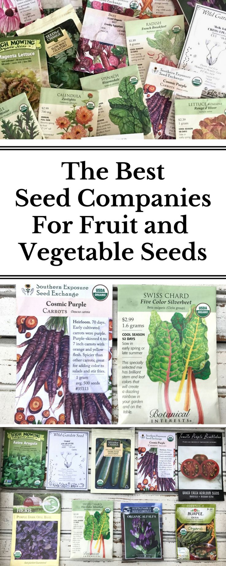 The best seed companies for organic and rare seeds!
