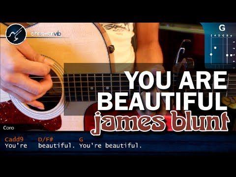 "Cómo tocar ""You Are Beautiful de James Blunt en Guitarra Acústica (HD) Tutorial - Christianvib - YouTube"