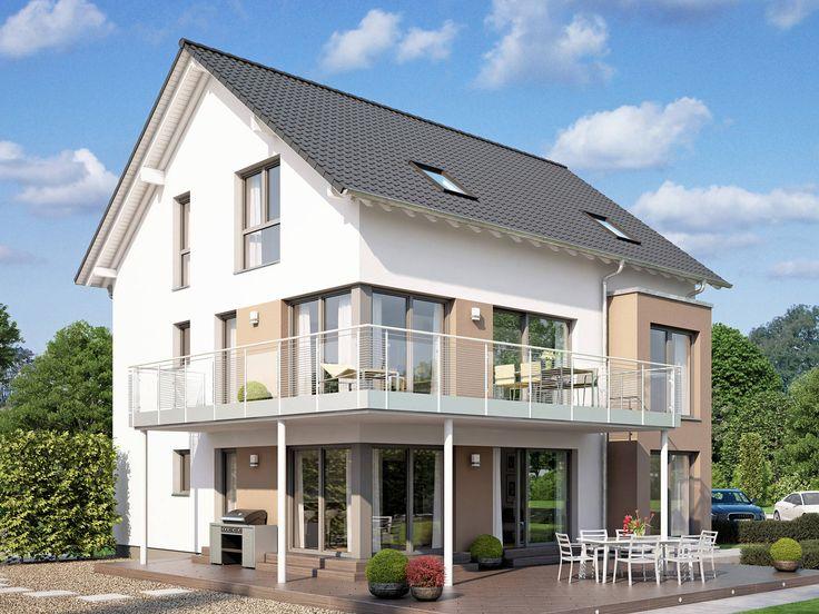 Celebration 275 V3 • Mehrgenerationenhaus von Bien-Zenker • Innovatives Fertighaus mit großem Übereck-Balkon und über 270 qm Wohnfläche.