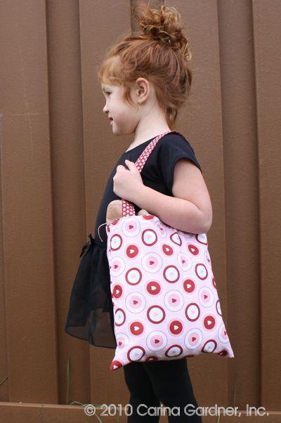 Reversible Ballet Bag Tutorial