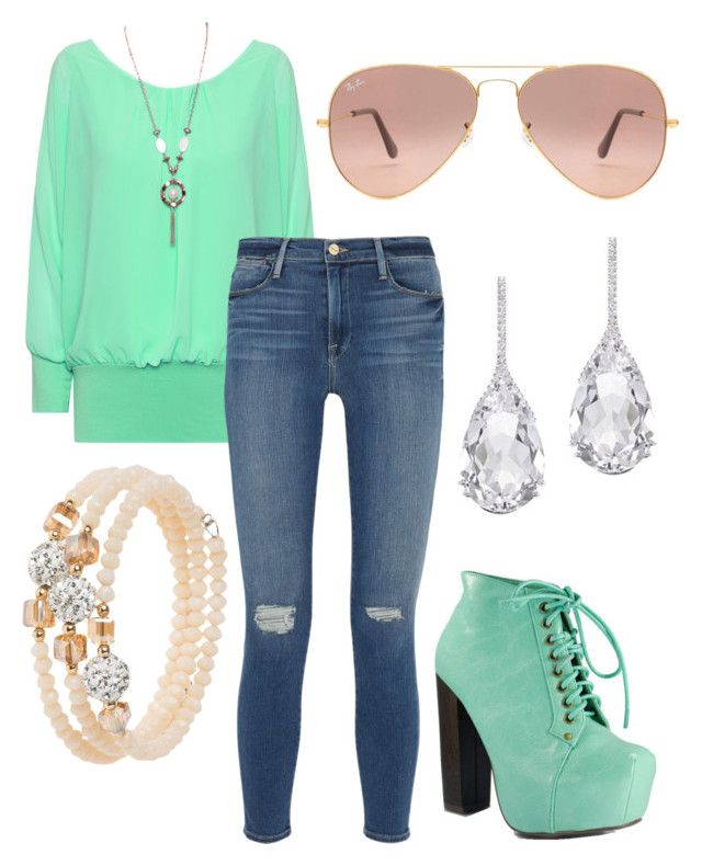 """""""Untitled #23"""" by katietait553 on Polyvore featuring WearAll, Frame Denim, Ray-Ban, sweet deluxe and Plukka"""