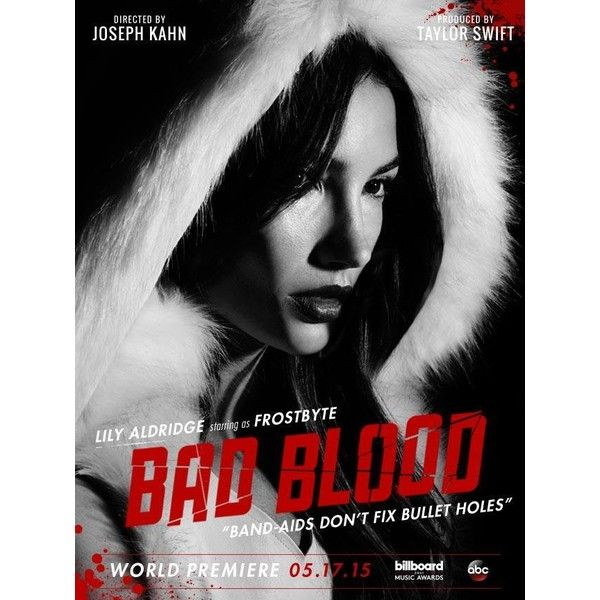 Lily Aldridge, Taylor Swift Star on 'Bad Blood' Posters ❤ liked on Polyvore featuring taylor swift, people and bad blood