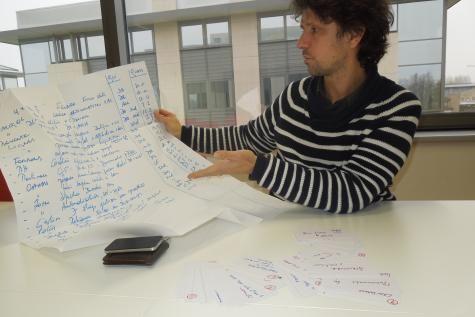 Une liste d'objectifs. C'est en empruntant la méthode des formateurs que David Boulanger et Xavier Van Dieren définissent leur stratégie pour développer leur société spécialisée dans la formation © J.-P. D.V.