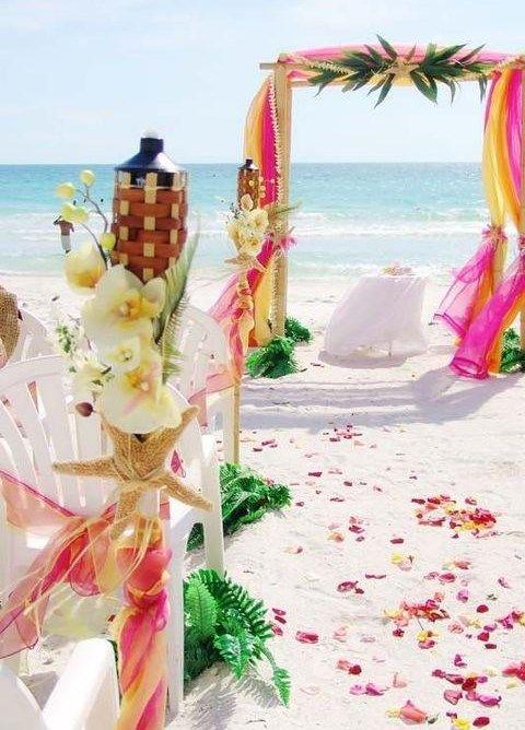 Como decorar una boda en la playa lindas ideas bodas - Decorar tu boda ...