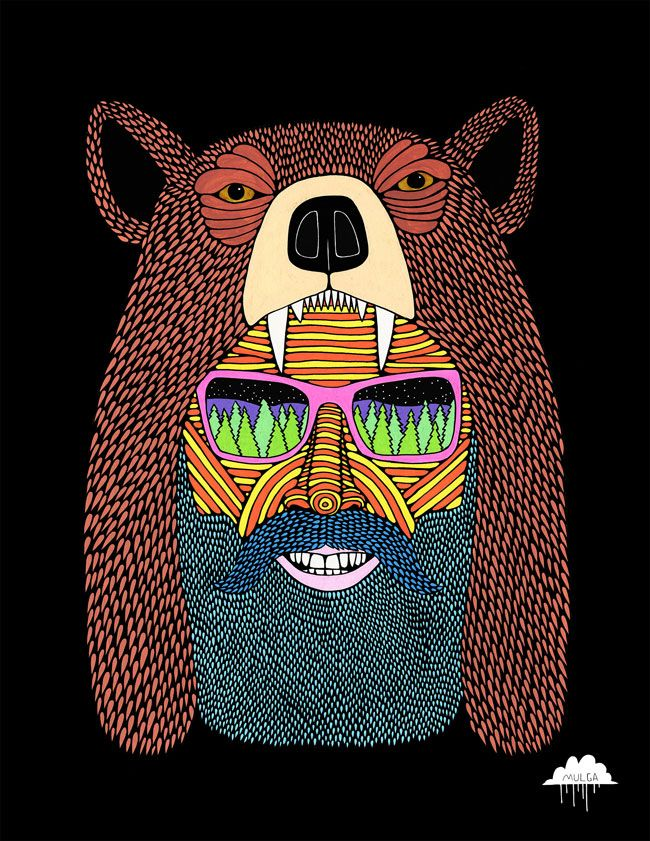 Joel Moore, a.k.a Mulga, is an Australian illustrator, artist and poet whose work is unfailingly mental yet marvellous. We've written about him before, but now we've interviewed him! read our original post about Mulga The Artist. Have you ever worked on a bigger 'canvas' than the Bondi one you did recently