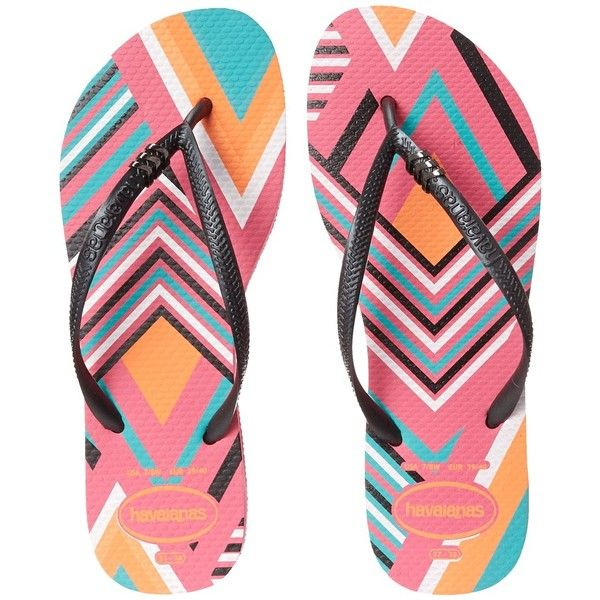 Havaianas Slim Tribal Flip Flops found on Polyvore