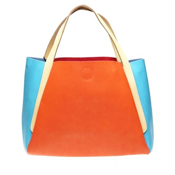 Handtasche zweifarbig orange
