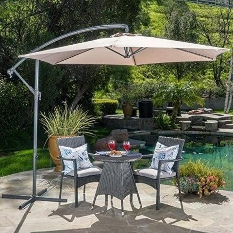 Garden Water Resistant Canopy Umbrella Outdoor Patio Sand Color: Sand When  You Want To Enjoy The Breeze Or The Sun Without Being Scorched This Canopy.