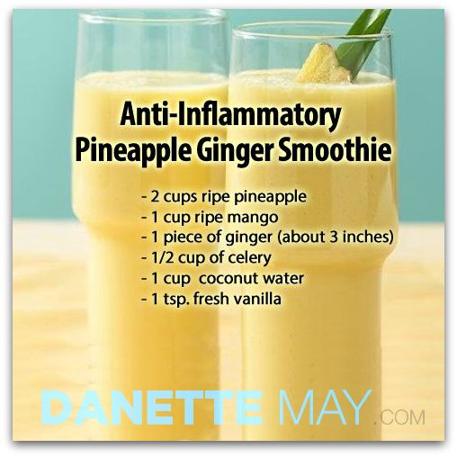 Anti-Inflammatory Pineapple Ginger Smoothie