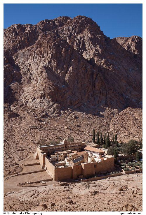 Saint Catherine's Monastery below Mount Sinai