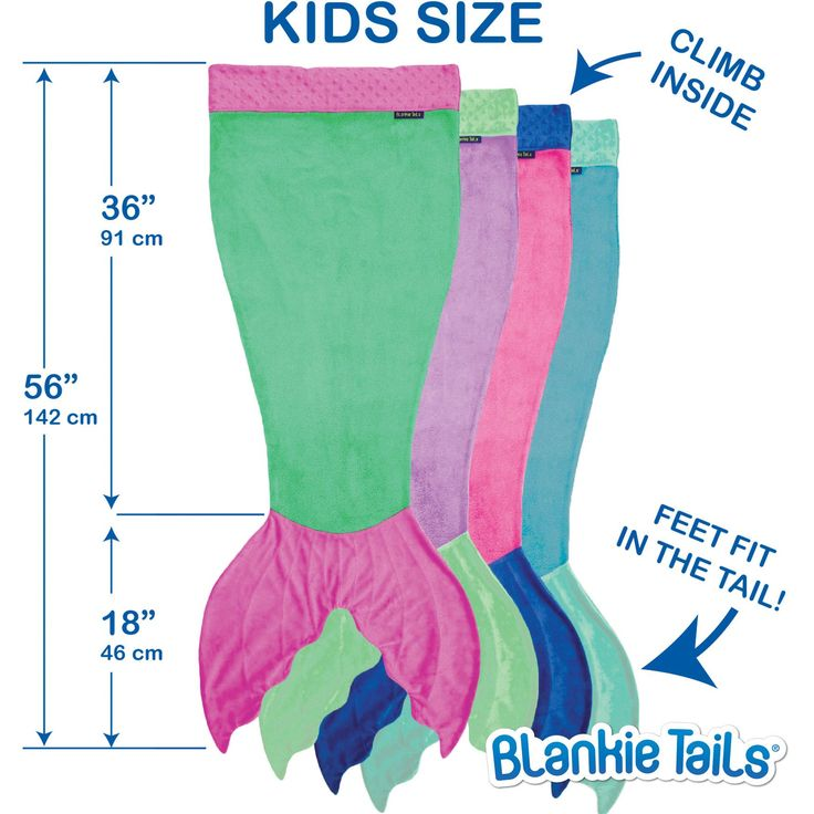 Kids Mermaid Blanket by Blankie Tails® - Assorted Colors - Blankie Tails - 6