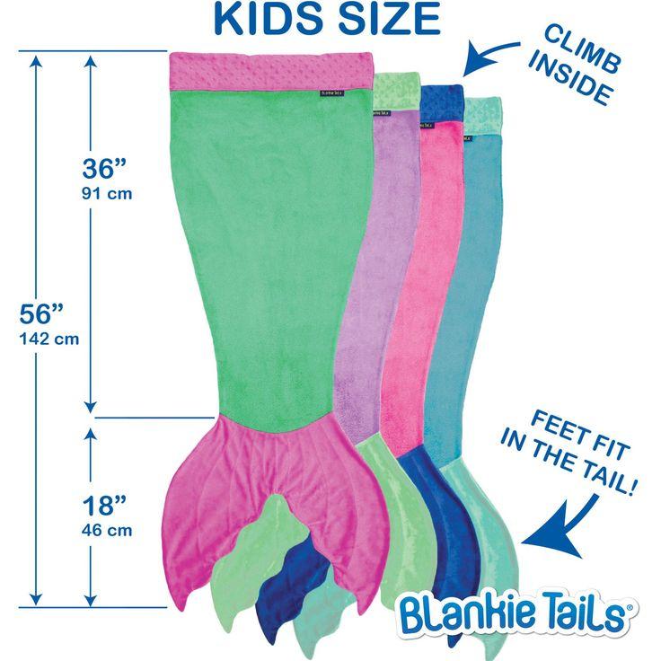 Kids Mermaid Blanket by Blankie Tails® - Assorted Colors - Blankie Tails - 1