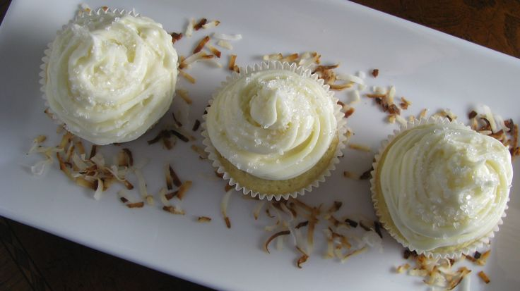 Coconut Rum Cupcakes | How Sweet It Is