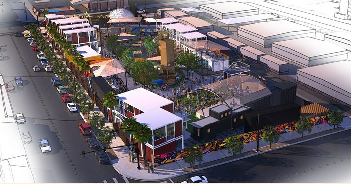 Shipping containers garages google search container mall markets pinterest parks - Container homes las vegas ...