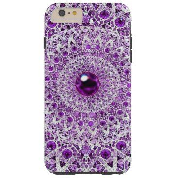 """Title : 104, BLING, Purple/White Kaleidoscope Design Tough iPhone 6 Plus Case  Description : My Customized Bling Art Designs, are flat prints. By using photo enhancement, shadowing, color-blending and the alteration of angles, I create the """"LOOK"""" of specific textures. (The same principal is used in 3-D Image Posters). I can create the desired look of Glitter, Sparkle, Reflection, but if you are not satisfied there is a 100% Guarantee. To help you find similar Bling Designs, use such…"""