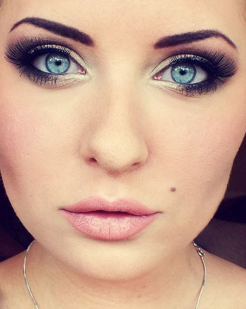 Smokey Eye For Blue Eyes And Fair Skin. Must Try.
