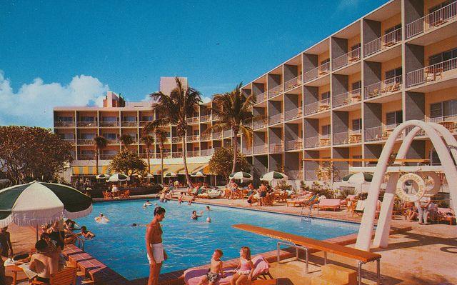 1960 S Miami Beach Motels Miami Hotels Pinterest