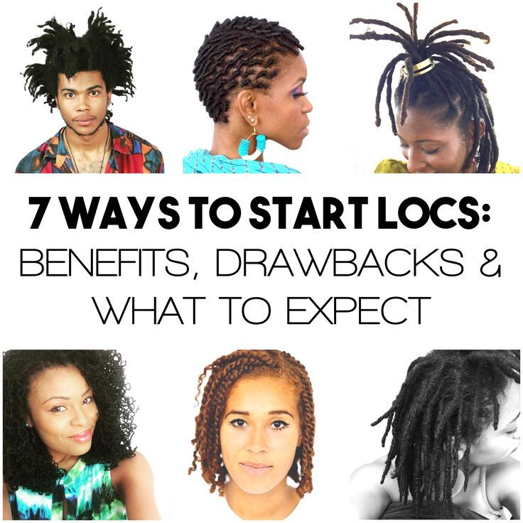 7 Ways to Start Locs: 2 Strand Twists, Braids, Comb Coils, Backcombing, Interlocking, Loc Extensions, Organically. I chose Loc Extensions (2010) and cut them after 2 years. I maintain by Interlocking.