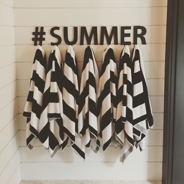 Summer, we're ready for you. (And so is this gorgeous outdoor space — genius way to use our Alphabet Hooks.)